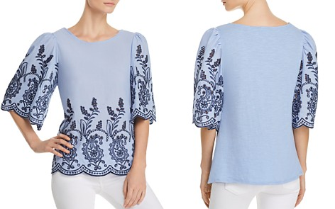 Cupio Mixed-Media Embroidered Blouse - Bloomingdale's_2