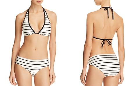 kate spade new york Stripe Halter Top & Hipster Bikini Bottom - Bloomingdale's_2
