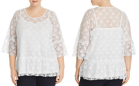 JUNAROSE Plus Butterfly Lace-Overlay Top - Bloomingdale's_2