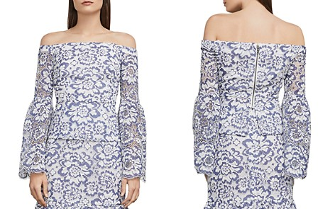 BCBGMAXAZRIA Kamryn Off-the-Shoulder Lace Top - Bloomingdale's_2