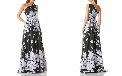 Carmen Marc Valvo One-Shoulder Floral Organza Ball Gown - Bloomingdale's_2