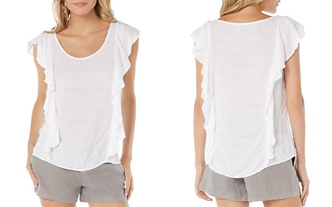 Michael Stars Ruffle-Trimmed Top - Bloomingdale's_2