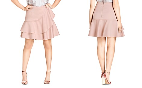 City Chic Plus Frill Me Tiered Ruffle Skirt - Bloomingdale's_2