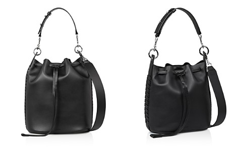 Allsaints Ray Leather Bucket Bag Bloomingdale S 2