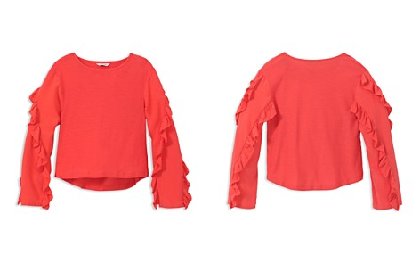 Habitual Girls' Coraline Mixed-Media Ruffle-Sleeve Top - Big Kid - Bloomingdale's_2