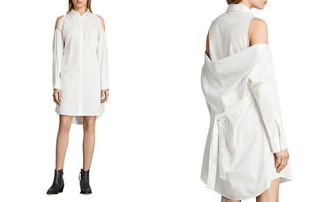 ALLSAINTS Joelle Cold-Shoulder Shirt Dress - Bloomingdale's_2