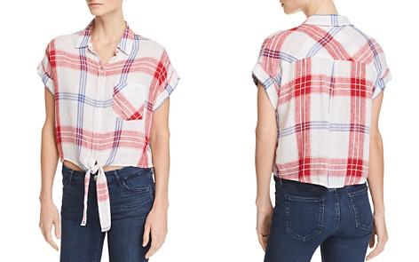 Rails Amelie Tie-Front Plaid Shirt - Bloomingdale's_2