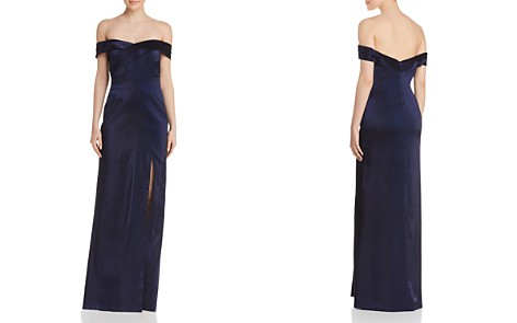 Aidan Mattox Off-the-Shoulder Column Gown - 100% Exclusive - Bloomingdale's_2