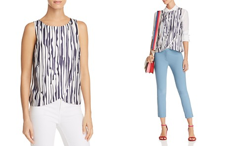 Theory Mintorey Printed Silk Top - Bloomingdale's_2