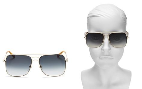 Chloé Women's Ricky Triple Bridge Gradient Navigator Sunglasses, 58mm - Bloomingdale's_2