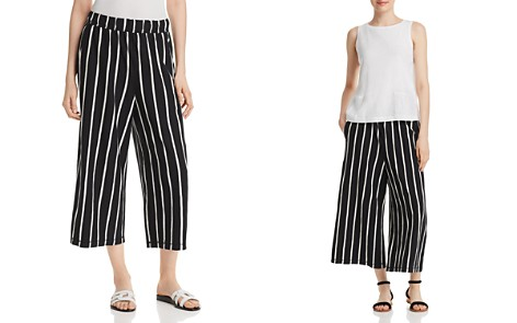 Eileen Fisher Petites Organic-Linen Striped Cropped Pants - Bloomingdale's_2