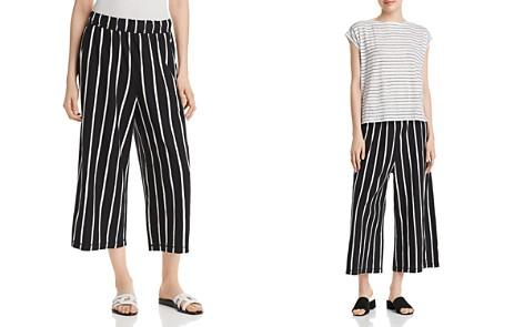 Eileen Fisher Striped Wide-Leg Crop Pants - Bloomingdale's_2