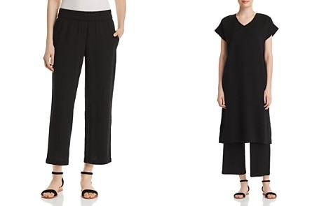 Eileen Fisher Silk Straight-Leg Crop Pants - Bloomingdale's_2
