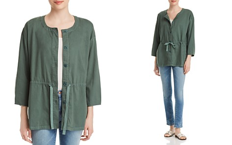 Eileen Fisher Organic Cotton Drawstring Jacket - Bloomingdale's_2