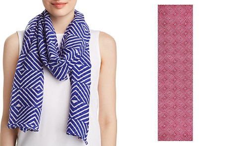 Eileen Fisher Mixed Chevron Print Scarf - Bloomingdale's_2