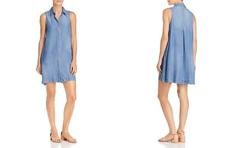 AQUA Chambray Shirt Dress - 100% Exclusive - Bloomingdale's_2