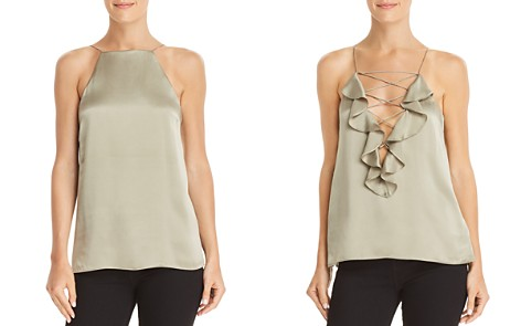 CAMI NYC Vera Ruffled Criss-Cross Detail Silk Top - Bloomingdale's_2