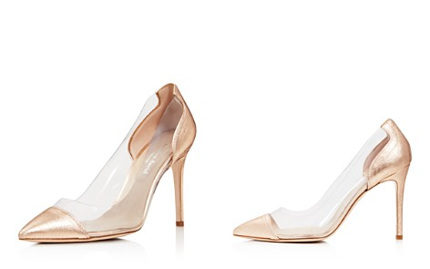 Charles David Women's Genuine Leather Illusion Pointed Toe Pumps - Bloomingdale's_2