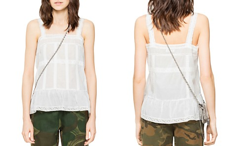 Zadig & Voltaire Teacup Lace-Trimmed Top - Bloomingdale's_2