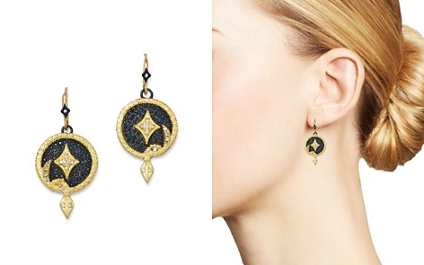 Armenta 18K Yellow Gold & Blackened Sterling Silver Old World Champagne Diamond Serpent Disc Drop Earrings - Bloomingdale's_2