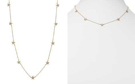 """SUEL Blackened 18K Yellow Gold Diamond Star Station Necklace, 16.5"""" - Bloomingdale's_2"""