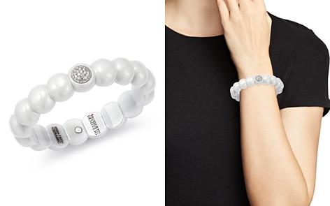Roberto Demeglio 18K White Gold & White Ceramic Dama Stretch Bracelet with Diamonds - Bloomingdale's_2