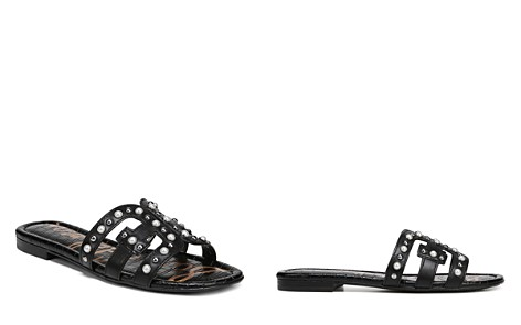 Sam Edelman Women's Bay 2 Leather Embellished Slide Sandals - Bloomingdale's_2