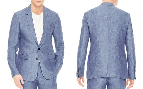 Sandro Notch Chambray Slim Fit Linen Sport Coat - Bloomingdale's_2