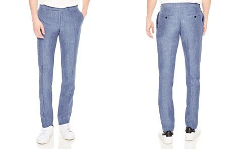 Sandro Notch Chambray Slim Fit Dress Pants - Bloomingdale's_2