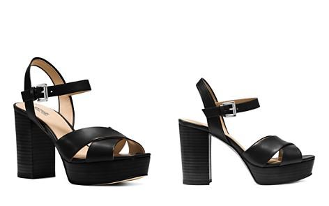 MICHAEL Michael Kors Women's Divia Leather Platform Sandals - Bloomingdale's_2
