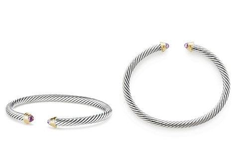 David Yurman Cable Kids Birthstone Bracelet with Amethyst & 14K Gold - Bloomingdale's_2