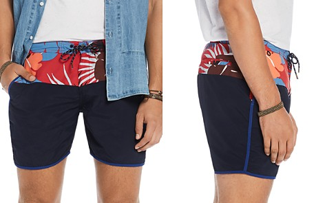 Scotch & Soda Floral Color-Block Swim Trunks - Bloomingdale's_2