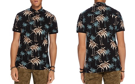 Scotch & Soda Palm Print Polo Shirt - Bloomingdale's_2