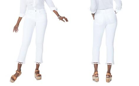 NYDJ Sheri Tassel-Trim Slim Ankle Jeans in Optic White - Bloomingdale's_2