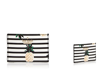 kate spade new york Cameron Street Pineapples Leather Card Case - Bloomingdale's_2