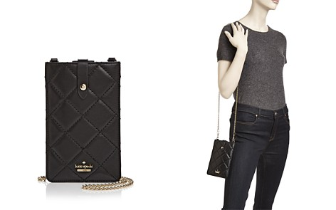 kate spade new york Quilted Leather Smartphone Sleeve Crossbody - Bloomingdale's_2