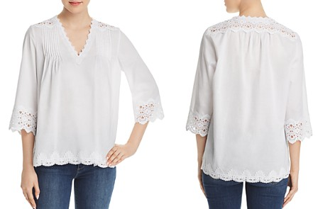 Le Gali Livia Pintucked Lace Blouse - 100% Exclusive - Bloomingdale's_2
