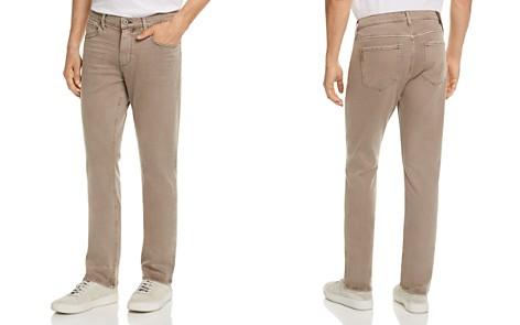PAIGE Federal Slim Fit Jeans in Vintage Mushroom - Bloomingdale's_2