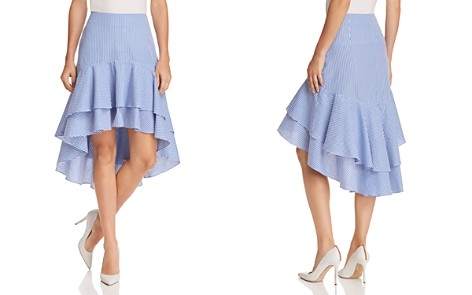 AQUA Striped Ruffled High/Low Skirt - 100% Exclusive - Bloomingdale's_2