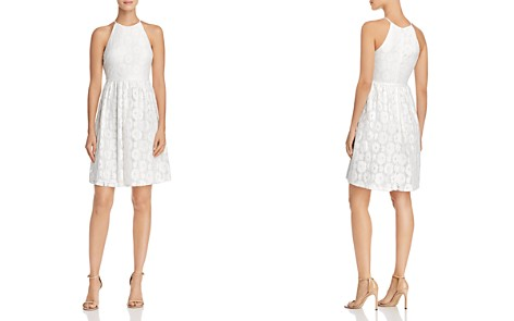 AQUA High-Neck Lace Dress - 100% Exclusive - Bloomingdale's_2