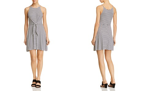 AQUA Tie-Front Striped Jersey Dress - 100% Exclusive - Bloomingdale's_2