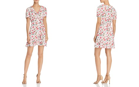AQUA Floral Print Ruffled Wrap Dress - 100% Exclusive - Bloomingdale's_2