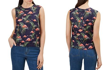HOBBS LONDON Ruby Flamingo Print Linen Top - Bloomingdale's_2