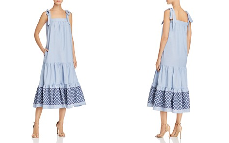 Rebecca Minkoff Lucy Embroidered-Hem Midi Dress - Bloomingdale's_2
