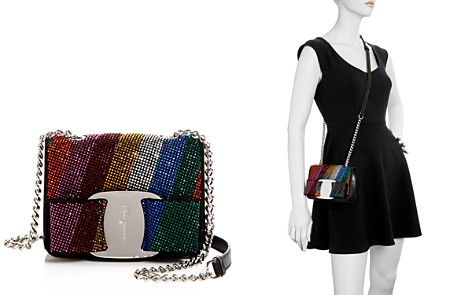 Salvatore Ferragamo Mini Vara Oversized Bow Rainbow Swarovski Crystal Crossbody - Bloomingdale's_2