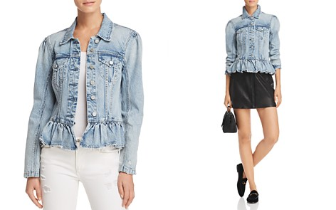 BLANKNYC Peplum Denim Jacket - Bloomingdale's_2
