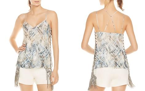Haute Hippie Reflected Light Snakeskin-Print Silk Cami - Bloomingdale's_2