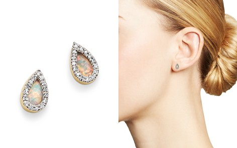 Adina Reyter 14K Yellow Gold Opal & Diamond Teardrop Stud Earrings - Bloomingdale's_2