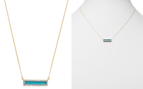 "Adina Reyter 14K Yellow Gold Turquoise & Diamond Bar Pendant Necklace, 17"" - Bloomingdale's_2"