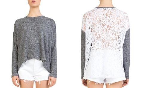 The Kooples Lace-Back Fleece Sweatshirt - Bloomingdale's_2